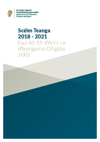 Scéim Teanga 2018-2021 front page preview