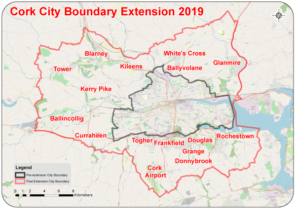 Cork City Boundary Map front page preview