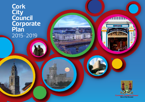 Cork City Corporate Plan 2015-2019 front page preview