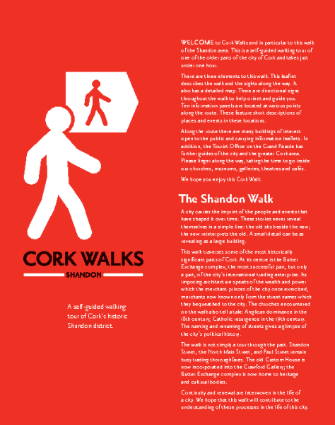 Cork City Centre: Shandon Walk front page preview