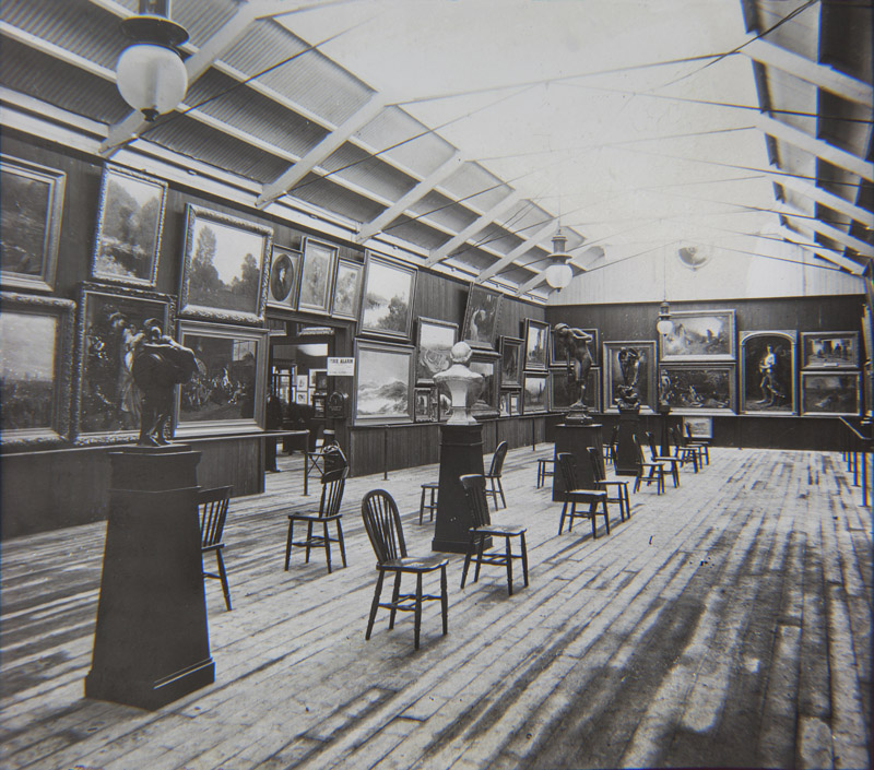 View of one of the main exhibitions halls- Painting and Sculpture