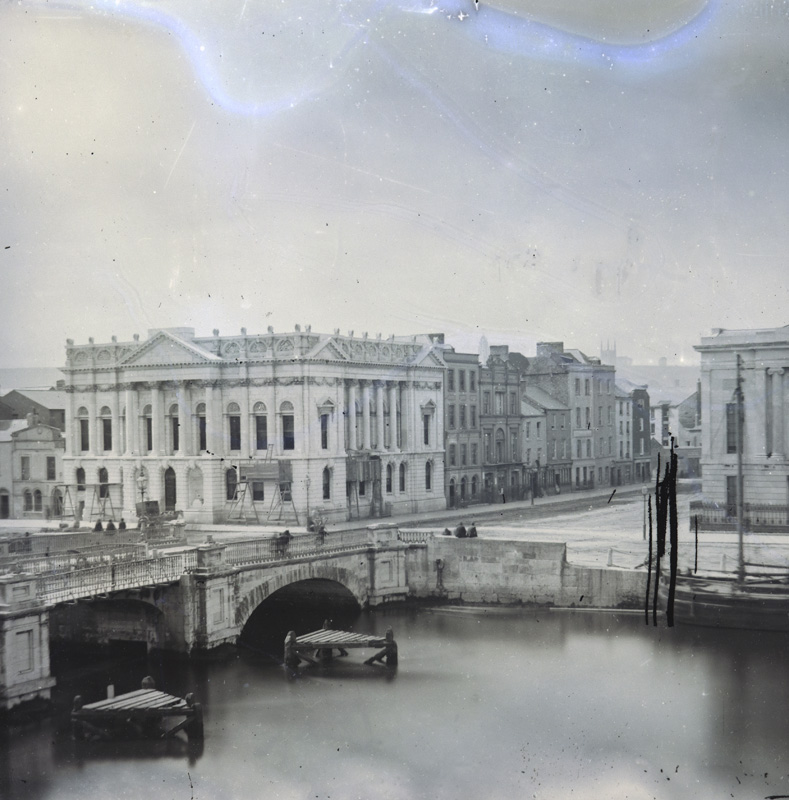 View of the Provincial Bank and Anglesea Bridge (Parnell Bridge) 1865