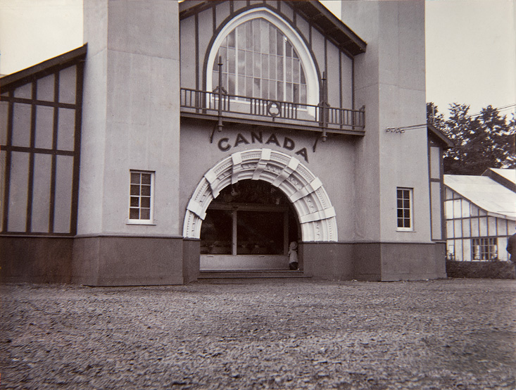 A rare image of the Canadian Pavilion that was situated at the International Exhibition, now Fitzgeralds Park 1902-03