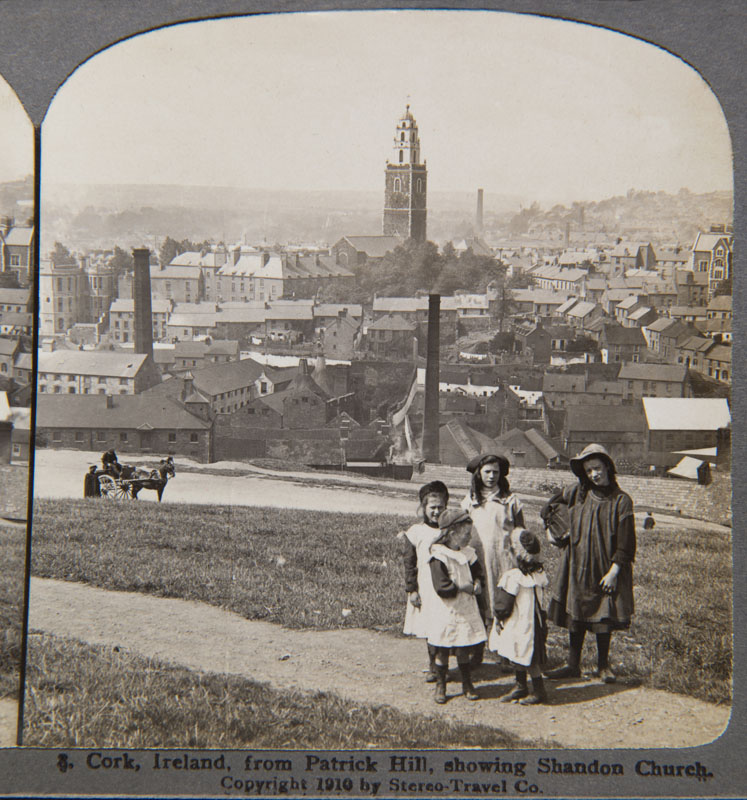 View-of-Cork-St-Annes-Shandon-St-Marys-Richmond-Hill-Stereo-View-Michael-Lenihan-Collection